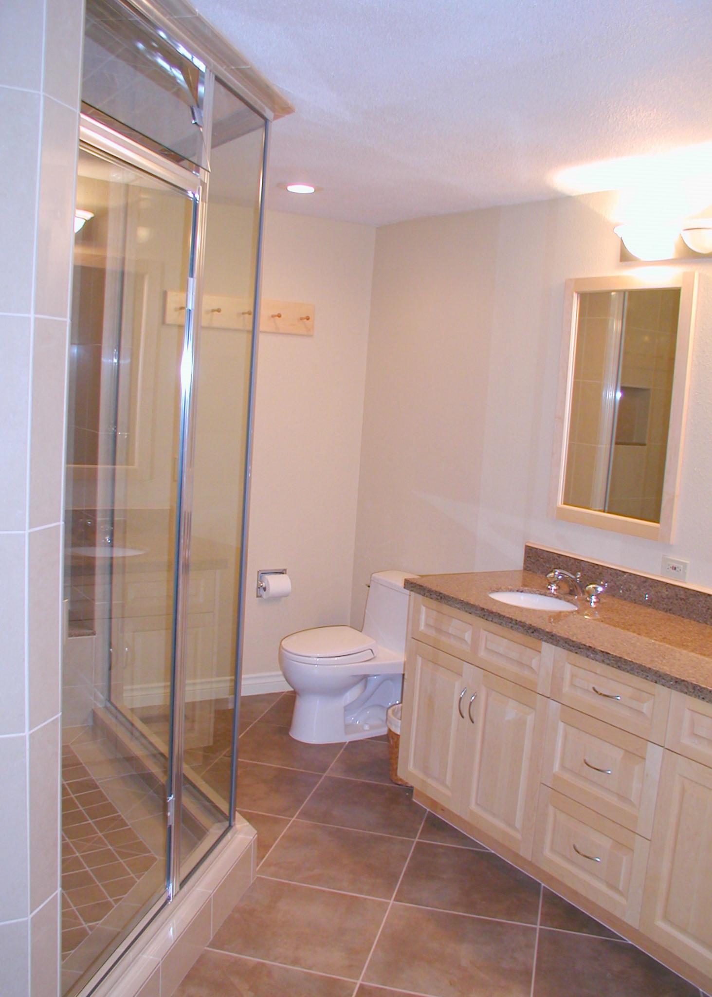 Bathroom remodel w rose construction favinger plumbing for Bathroom remodel plumbing