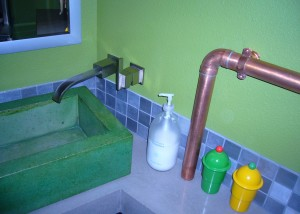 Industrial Bathroom Remodel Favinger Plumbing