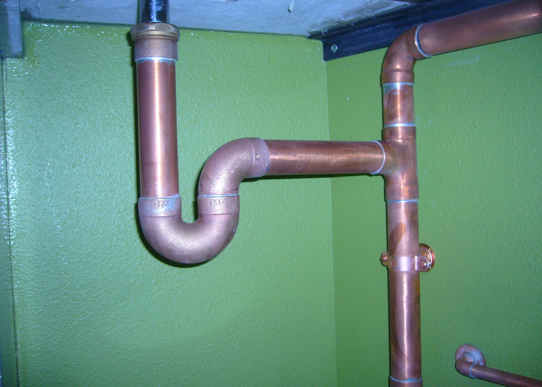 Industrial bathroom remodel favinger plumbing for Plumbing drain pipe